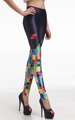 Fancy Dress Retro Pac Man Stretch Funky Leggings New Festival Wear