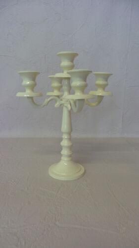 Crème 5 bras petit métal Table Mariage Pièce Centrale candélabre