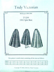 Old-West-Truly-Victoria-Edwardian-Riding-style-split-skirt-sewing-pattern-TV299