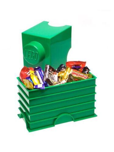 P LEGO vert de stockage brique 2 Enfants Chambre À Coucher//Salle de jeux Jouet Stockage Neuf Gratuit P