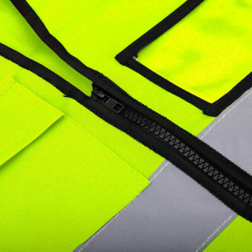 Multicolor Hi-Vis Safety Vest Reflective Jacket 5 Pockets Security Waistcoat