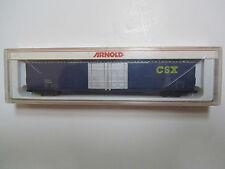 """Vintage Arnold N scale 85' High Cube Box Car # 5326 """"CSX"""" RD # 179398"""