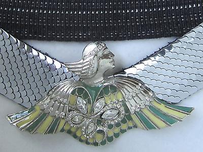 100% Vero Cintura Con Bel Fibbia, Motivo Egiziana-mostra Il Titolo Originale Luminoso A Colori