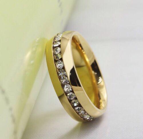 Gr Gold Strass 17 = 1,7 cm NEU TOP Statement Edelstahl Ring