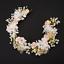 Wedding Bridal Pearls Crystal Flower Headband Headpiece Party Prom Tiara Crown