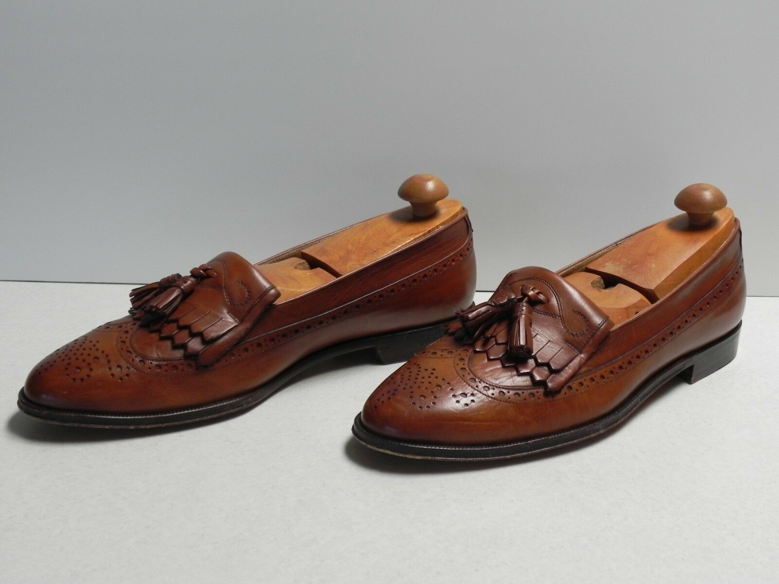 vendite calde Uomo Bruno Magli Magli Magli Marvin Marrone Leather Dress scarpe Slide On Loafers  9.5 N  ti aspetto
