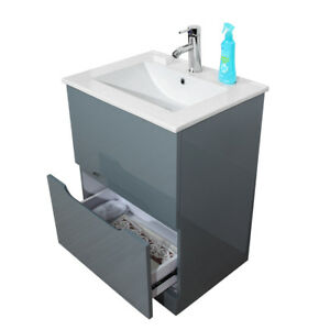 Swell Details About 610Mm Bathroom Sink Cabinet Under Basin Unit Cupboard Storage Vanity Grey Uk Download Free Architecture Designs Embacsunscenecom