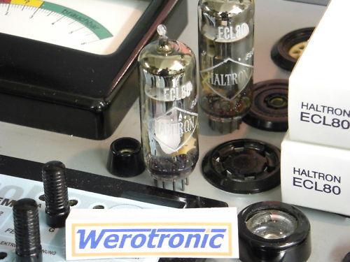 Haltron Röhre ECL80  geprüft ECL 80 tube tested NOS NIB