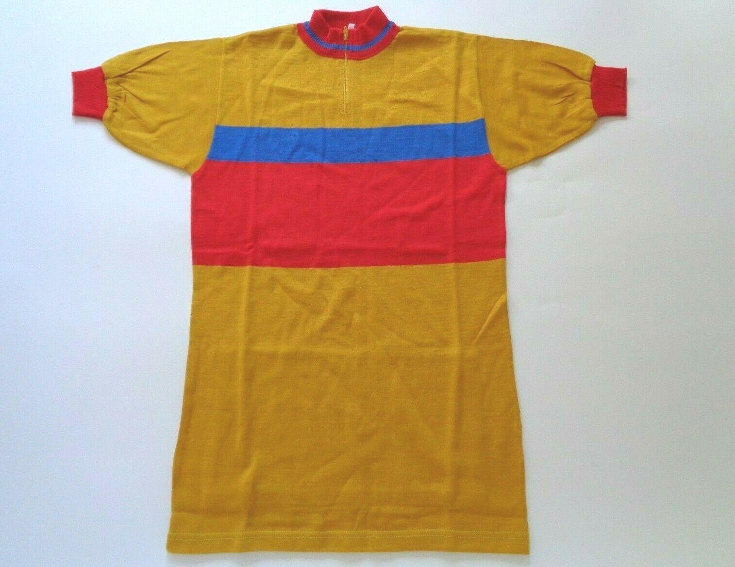 noas retrospectiva, camisetas del ciclo de lana italianas de los años setenta (amarillo   rojo   azul) Código s