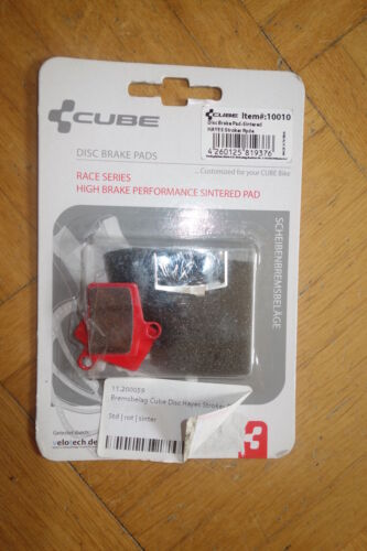 1 Pair Cube Brake Pads for Hayes Stroker Ryde, Sinter, red. 10010