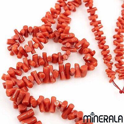 74pcs Perles Rondes En Vrac Longueur 16/'/' Corail Rouge Fabric Bijoux