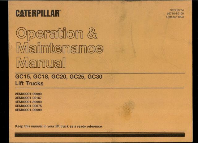 caterpillar forklift gc15 manuals on