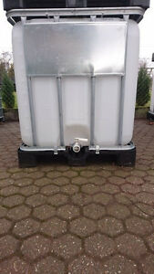 ibc container tank regenwassertank 1000 liter zisterne lebensmittel ebay. Black Bedroom Furniture Sets. Home Design Ideas