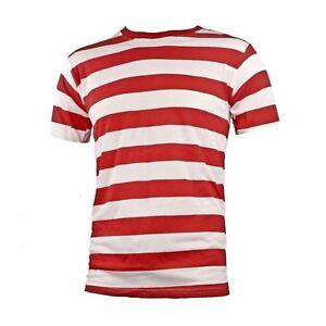 NYC-Short-Sleeve-Punk-Goth-Emo-Mime-Striped-Cosplay-Costume-T-Shirt-S-M-L-XL-2X