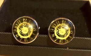 Cufflinks Steampunk Clock Cufflinks Vintage Style 1 Rockabilly Clock Design