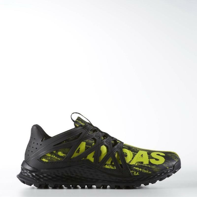 ADIDAS VIGOR BOUNCE TRAIL RUNNING BB8380 BLACK/SHOCK LIME GREEN - MESH