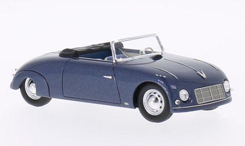 Waibel Porsche Special Sport cabriolet blu métallisé 1948 1 43 NEO