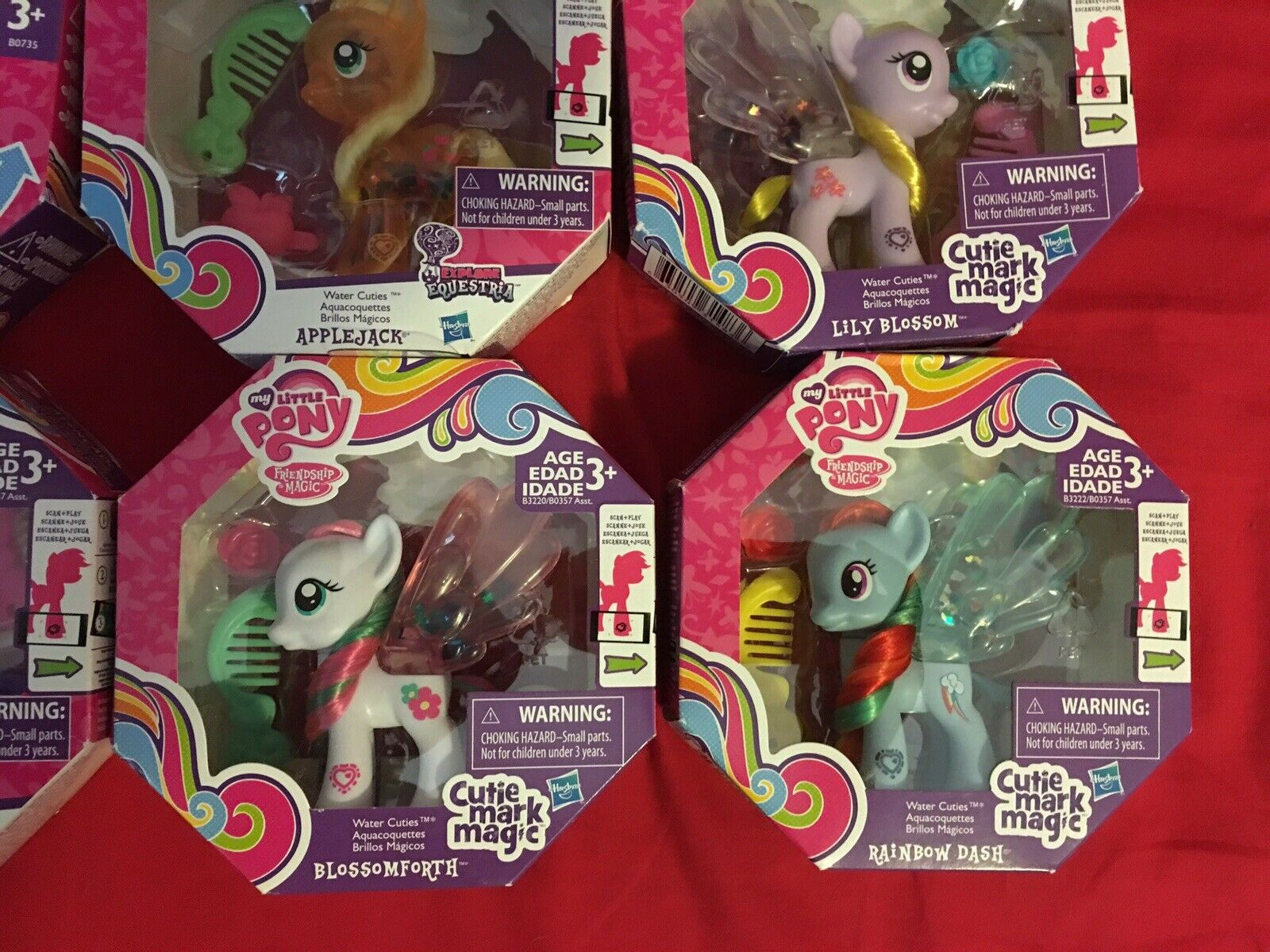 My little pony pony pony lot of 12 water ponies cuties very rare never opened 3d0683