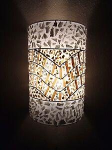 Inhabituel-Banana-Leaf-amp-White-Shell-Wall-Lamp-Shades-Lot-de-2-Bali-Lamp-Shades
