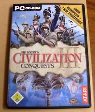 PC Game Spiel - Civilization III 3 - Conquests + Addon Mehrspieler + 7 Zivilis..
