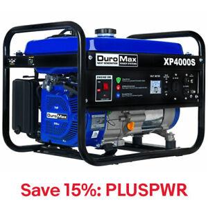 DuroMax 4000 Watt Gas Powered RV Camping Generator XP4000S, 15% Off: PLUSPWR