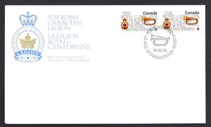 Canada  FDC  # 680   Royal Canadian Legion   1975 Pair    New Fresh Unaddressed