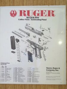 1992-RUGER-P89-CALIBER-9MM-AUTOLOADING-PISTOL-POSTER-GREAT-FOR-BAR-MANCAVE