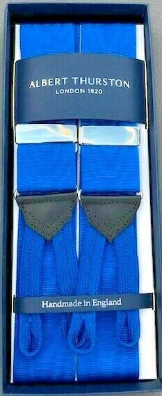 Albert Thurston Royal Moire Braces with Royal Braid ends/Silver Fittings(New)
