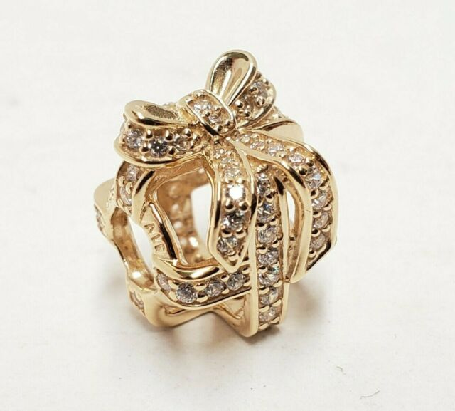 All Wred Up Openwork Charm 14k Gold