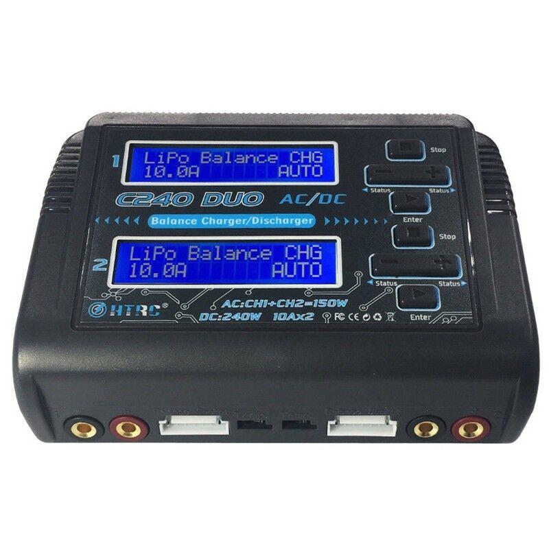 HTRC C240 C240 C240 DUO AC 150 W DC Double Canal 10A RC Chargeur de batterie K9U9  precios ultra bajos