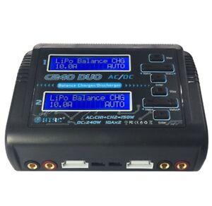 Htrc C240 Duo Ac 150 W Dc Double Canal 10a Rc Chargeur De Batterie K9u9