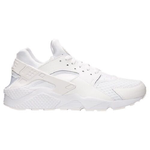 The most popular shoes for men and women 318429-111 Men's Nike Air Huarache Shoe!! WHITE/WHITE/PURE PLATINUM!!