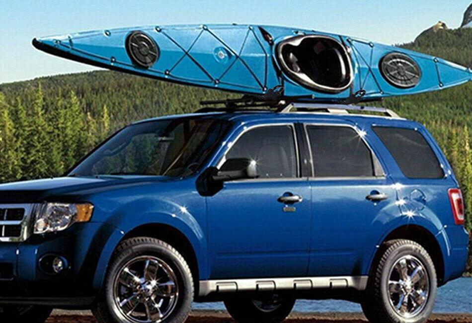Set of Canoe Boat Kayak Roof Rack Car SUV Truck Top Mount Carrier J Cross Bar UK