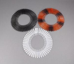 Black Clear Brown headband Set 3 Flex spider hair comb teeth accordion stretch