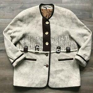XL  German Jacket 80s large size Trachten style jacket.