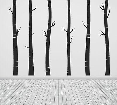 Wall Art Tree T5 MIR Birch Vinyl Decor Decal Sticker Mural Decoration T5D