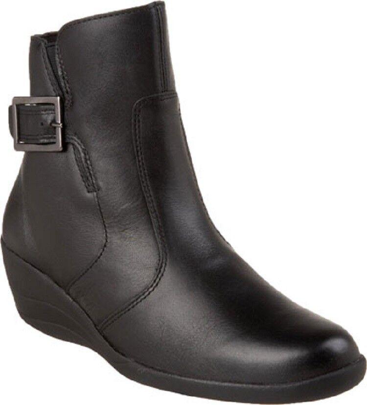 Spring Step ade 35, Cuero Negro Tobillo botas Talla 35, ade 36, 41 Hecho En Portugal 82502d
