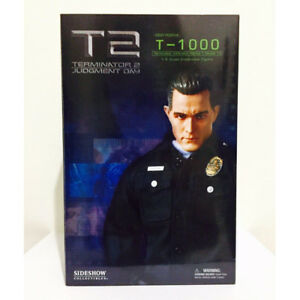 """SIDESHOW 1/6 COLLECTIBLE TERMINATOR 2 JUDGMENT DAYS """" T-1000 """"  - RARE"""