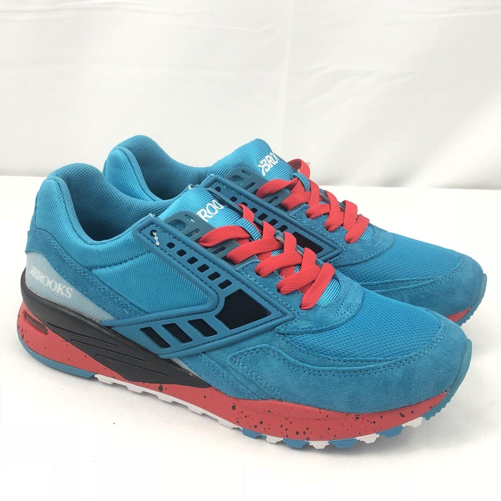 Brooks Heritage para hombre zapatillas de entrenamiento tenis City Regent Azul Rojo