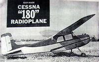 Vintage Cessna 180 41 Span Rc Hobby Helpers Model Airplane Plan + Nice Article