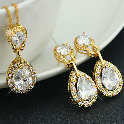 New Necklace And Earring Sets 18K Gold Filled Luxury Fashion Party Jewelry Sets