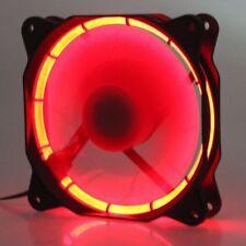 Eclipse 120mm 25mm Red LED Fan 12V DC 60CFM Quiet PC Computer Cooler Cooling Fan