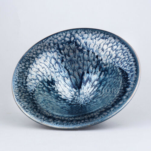 China Antique porcelain Chrysanthemum oil spot glaze bamboo hat teacup JianZhan