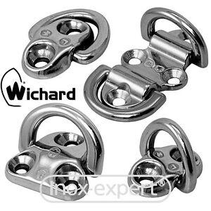 Wichard® Klappauge Edelstahl A4 Geschmiedet Klappbare Decksaugen Klapp-Öse Bügel