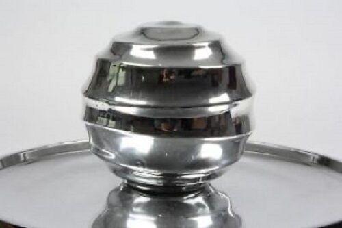 """Kugel Metall in Silber glänzend /""""Dolomit/""""  11cm"""