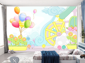 3D Balloons Garden 9 Wall Paper Murals Wall Print Wall Wallpaper Mural AU Kyra