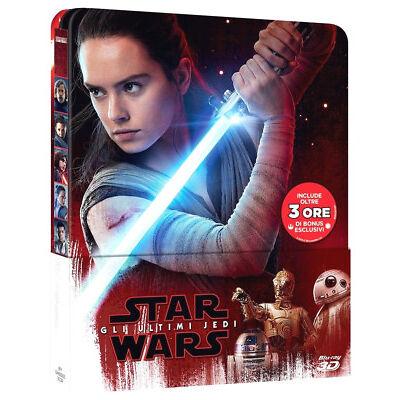 STAR WARS 8 Gli Ultimi Jedi STEELBOOK EDITION (BLU-RAY 3D + 2D)