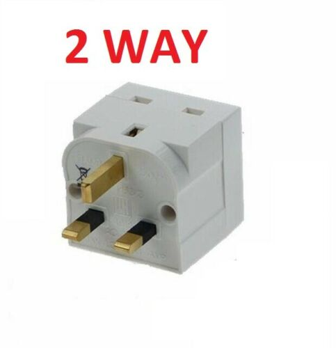 Prise 2WAY ménage Multi Plug Fondue Adaptateur secteur britannique 13AMP 240 V AC 2 Socket