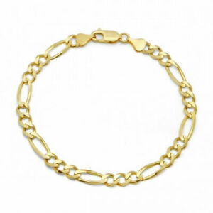 10k-Yellow-Gold-Miami-Cuban-Link-Bracelet-For-Men-Women-Franco-Rope-Curb