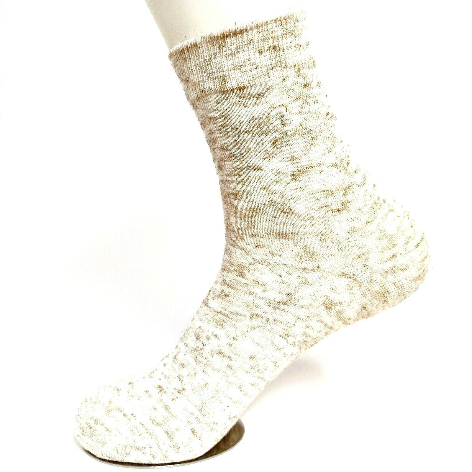 Natura Socken naturbelassene Baumwolle mit Leinen